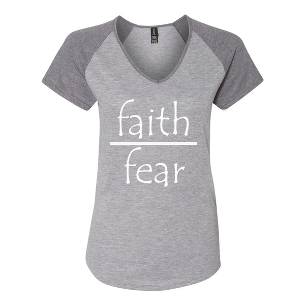 Faith Over Fear Women's Triblend Colorblock