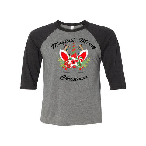 Magical, Merry Christmas Toddler Baseball Tee