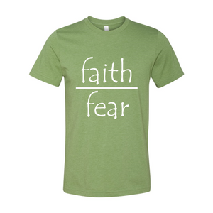 Faith Over Fear Unisex Short Sleeve Jersey T