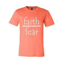 Load image into Gallery viewer, Faith Over Fear Unisex Short Sleeve Jersey T