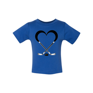 Love Hockey Baby Short Sleeve Tee