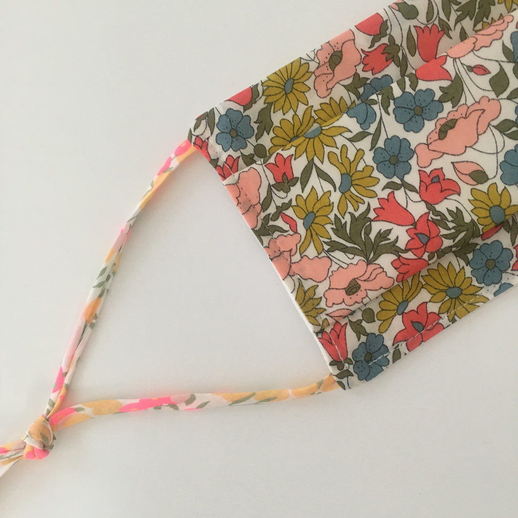 MASQUE EN TISSU - LIBERTY POPPY AND DAISY ET & LIENS LIBERTY