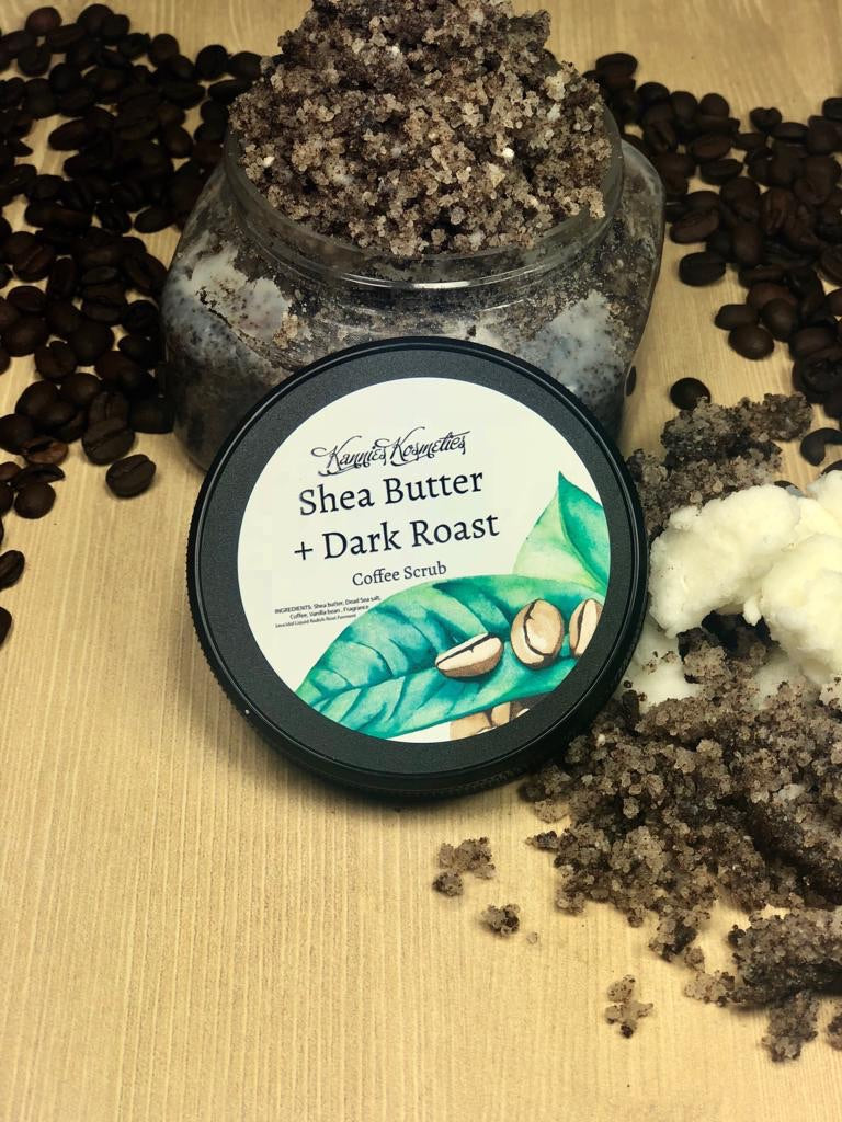 Shea Butter + Dark Roast Coffee Scrub