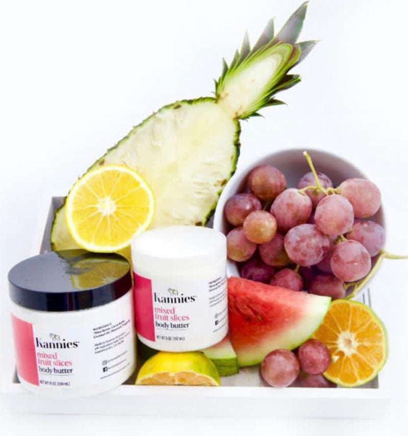 Mixed fruit slices body butter