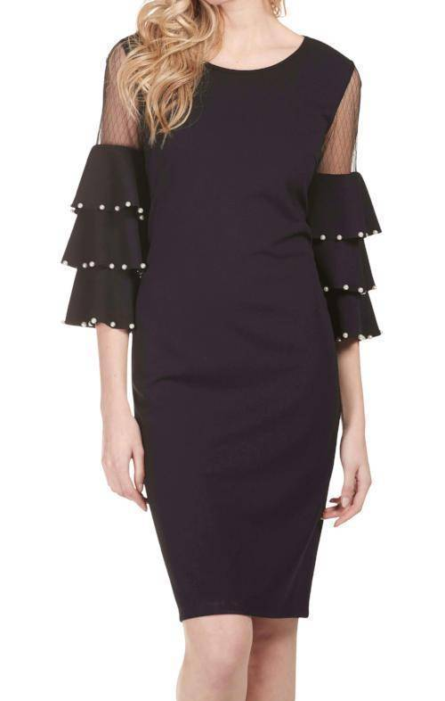 Frank Lyman Womens Ruffle Sleeve Dress - a-dream-fit.myshopify.com