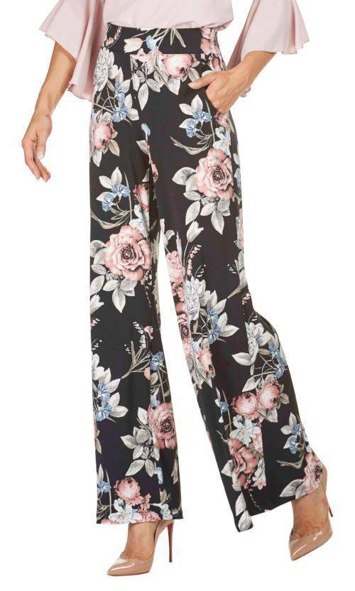 Frank Lyman Womens Palazzo Pants Floral - a-dream-fit.myshopify.com