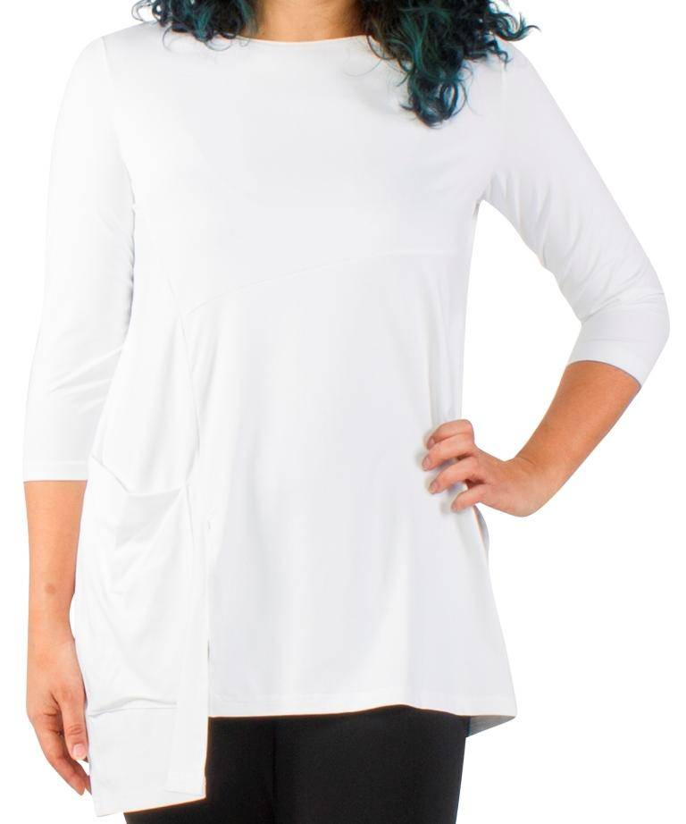 Sympli Womens Plus Size Chop Tunic 3/4 Sleeves, 4 Colors - a-dream-fit.myshopify.com