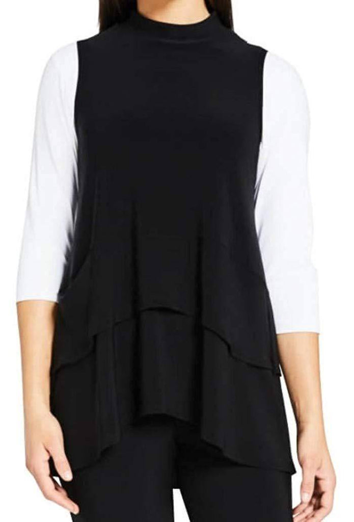 Sympli Womens Sleeveless Waterfall Top - a-dream-fit.myshopify.com