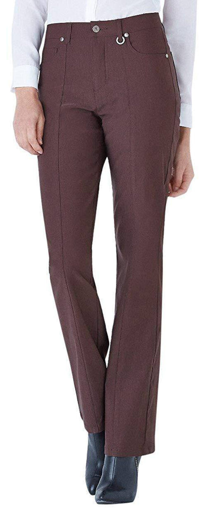 "Simon Chang Canada Womens Micro Twill Straight Pants Inseam 30"" - A Dream Fit"