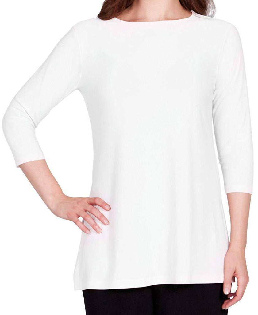 Sympli Womens Nu Ideal Tunic 3/4 Sleeves, 5 Colors - a-dream-fit.myshopify.com