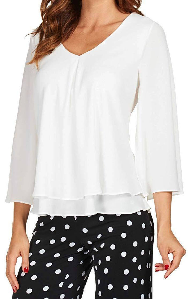 Frank Lyman Womens Layered Top