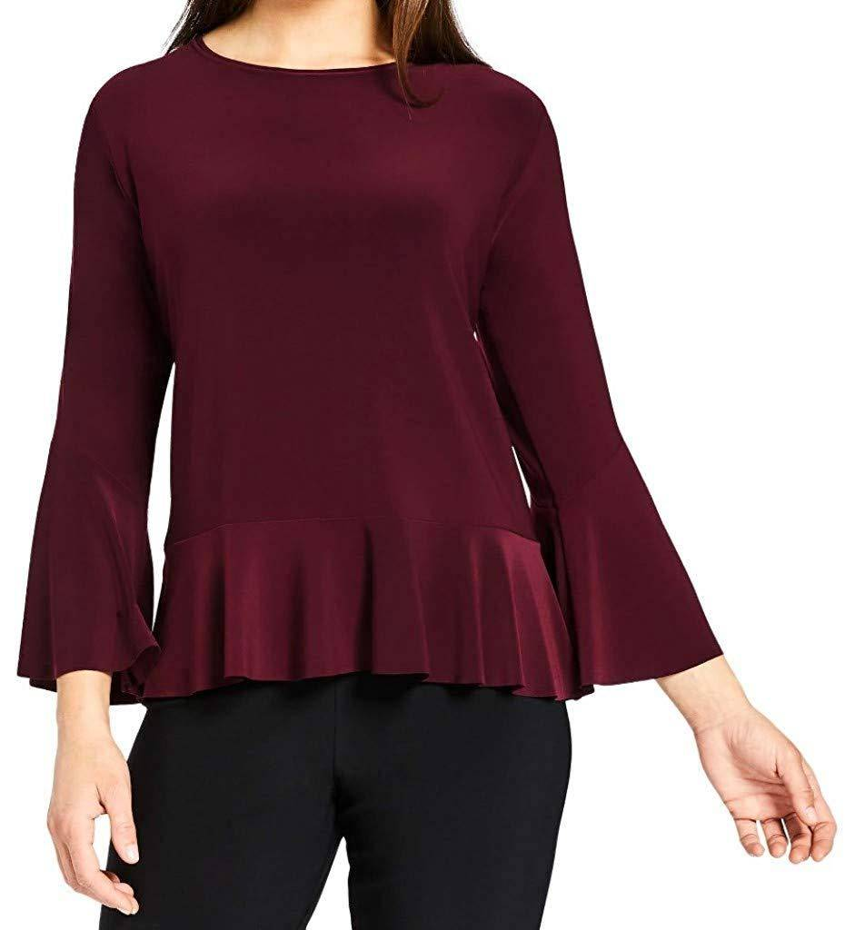 Sympli Womens Nu Peplum Top - A Dream Fit
