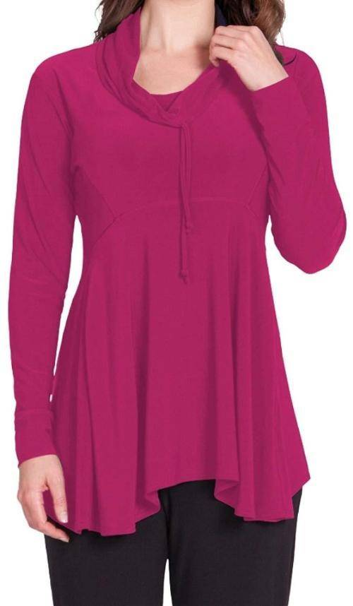 Sympli Womens Energy Slouch Tunic Long Sleeves - a-dream-fit.myshopify.com