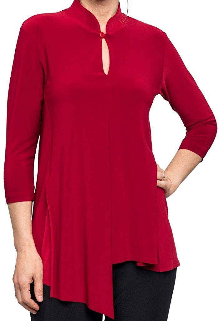 Sympli Womens Double Over Top 3/4 Sleeves - A Dream Fit