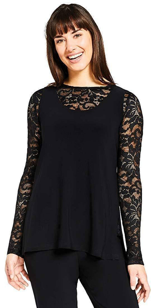 Sympli Womens Lace Barely T Top - A Dream Fit