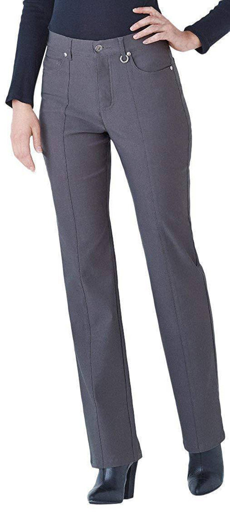 "Simon Chang Canada Womens Micro Twill Straight Pants Inseam 33"" - a-dream-fit.myshopify.com"