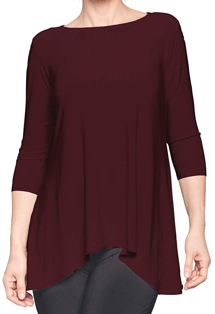 Sympli Womens True T 3/4 Sleeves - A Dream Fit