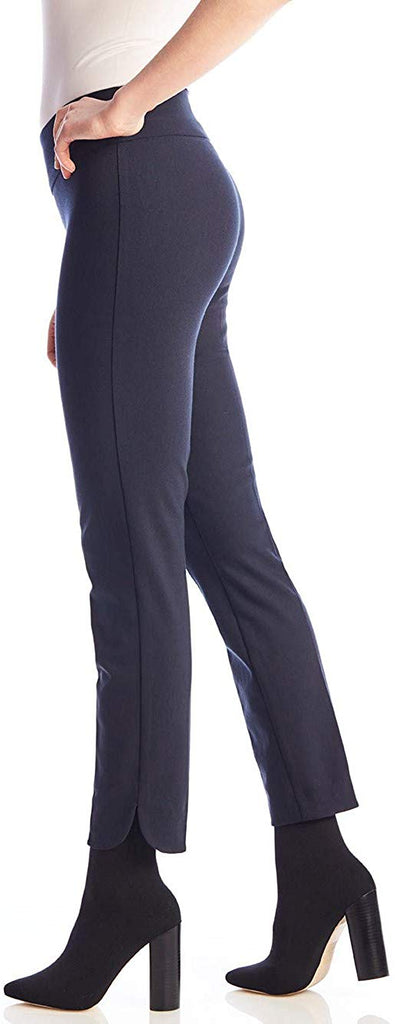 UP Womens Slim Ankle Pants Flatten and Flatter Style 65027 Techno Petal Slit