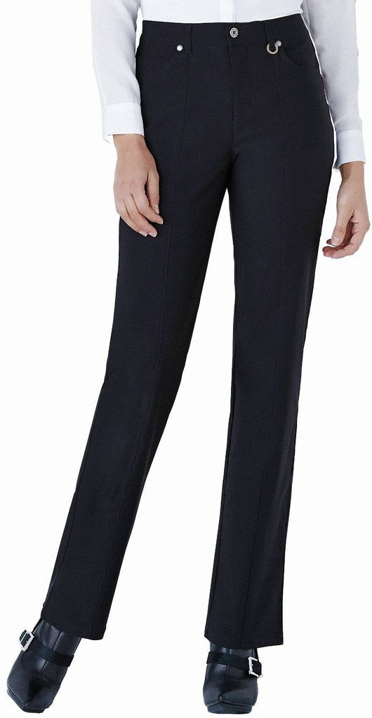 "Simon Chang Canada Womens Micro Twill Straight Pants Inseam 33"" - A Dream Fit"