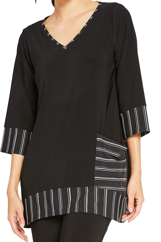 Sympli Womens Match Stripe Tunic Style 23146CB-2 - a-dream-fit.myshopify.com
