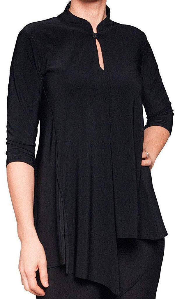 Sympli Womens Plus Size Double Over Top, 3 Colors