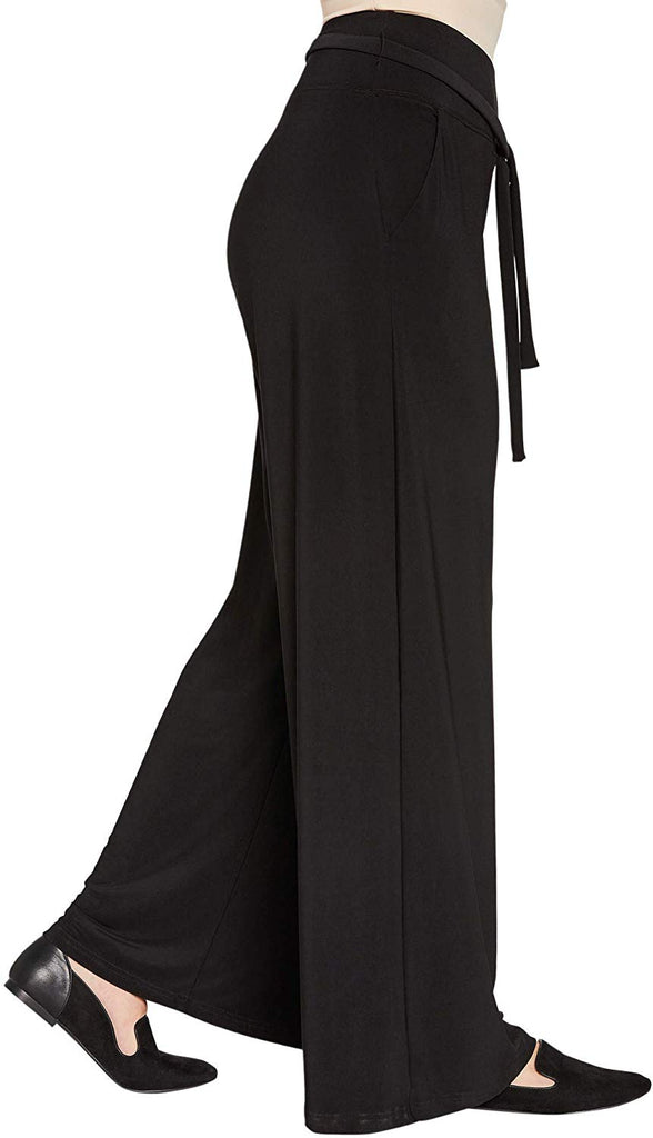 Sympli Womens Wide Leg Trouser Style 27195 Color Black Size 12 - a-dream-fit.myshopify.com