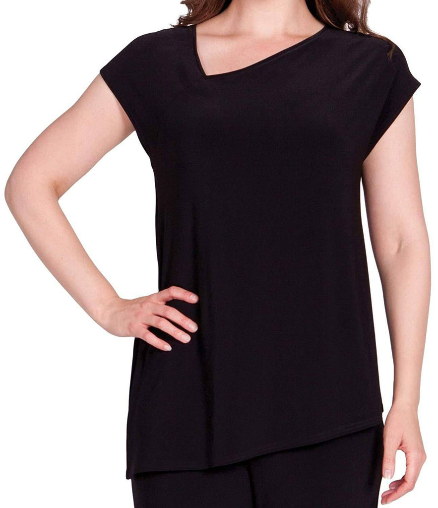 Sympli Womens Slant Top with Cap Sleeves - A Dream Fit
