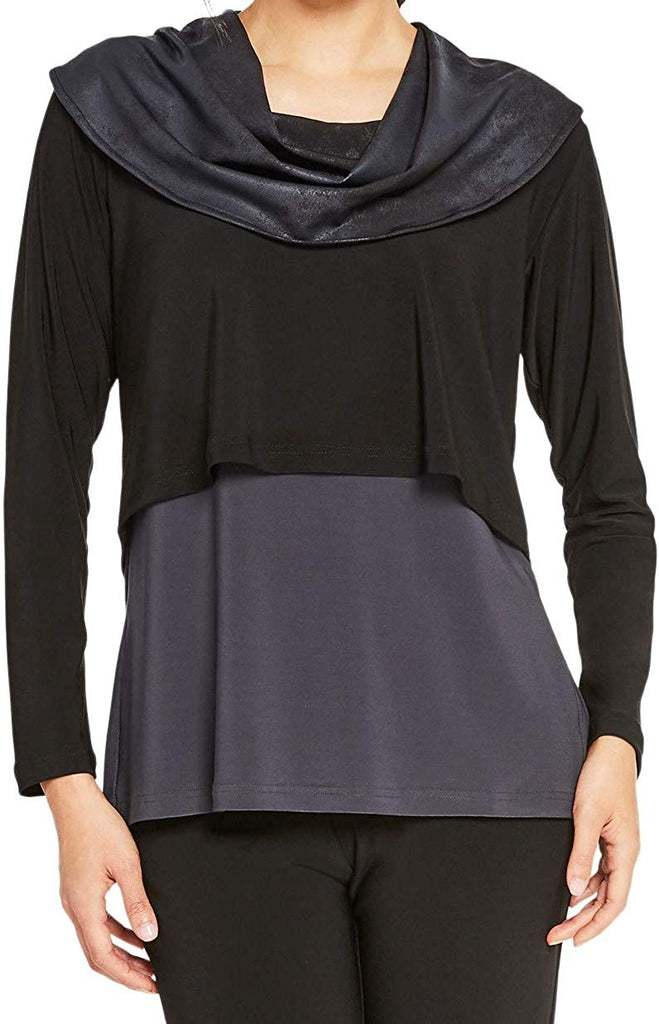 Sympli Womens Storm Shorty Cowl Top 22192-3 - a-dream-fit.myshopify.com