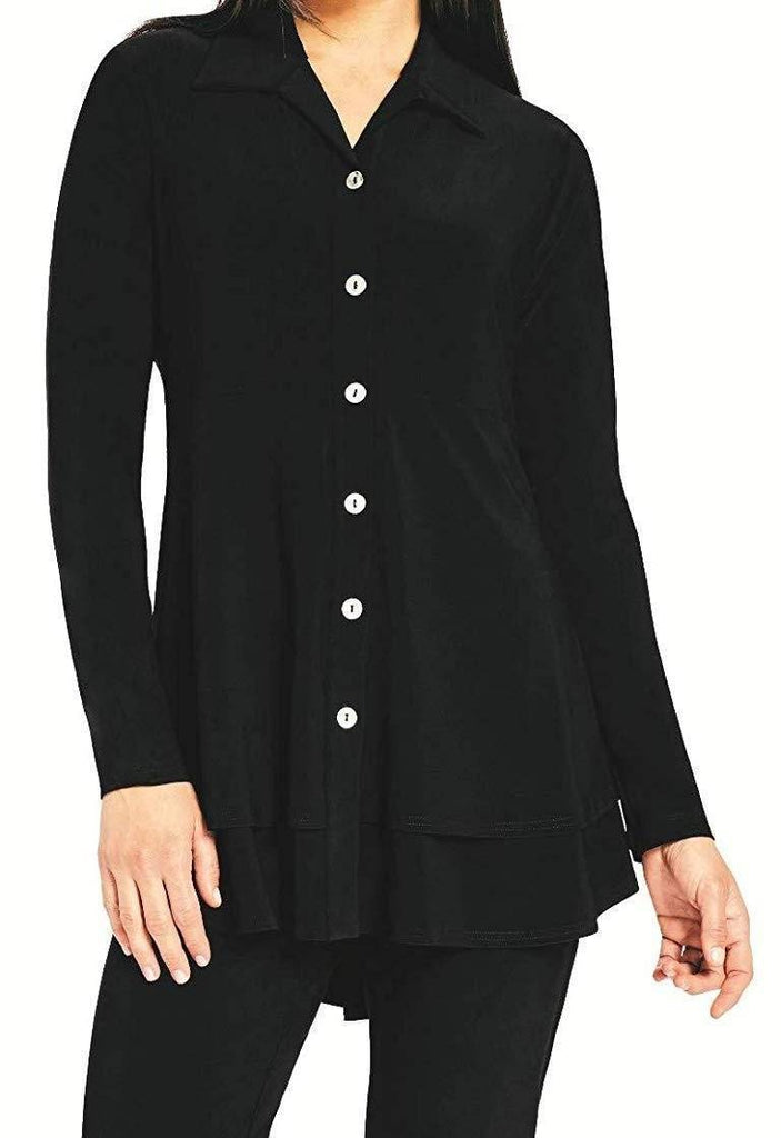 Sympli Womens Long Sleeves Charm Shirt - a-dream-fit.myshopify.com