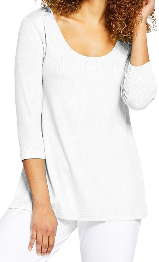 Sympli Womens Edge Scoop Neck T Rib Knit Style L7225R-2 - a-dream-fit.myshopify.com