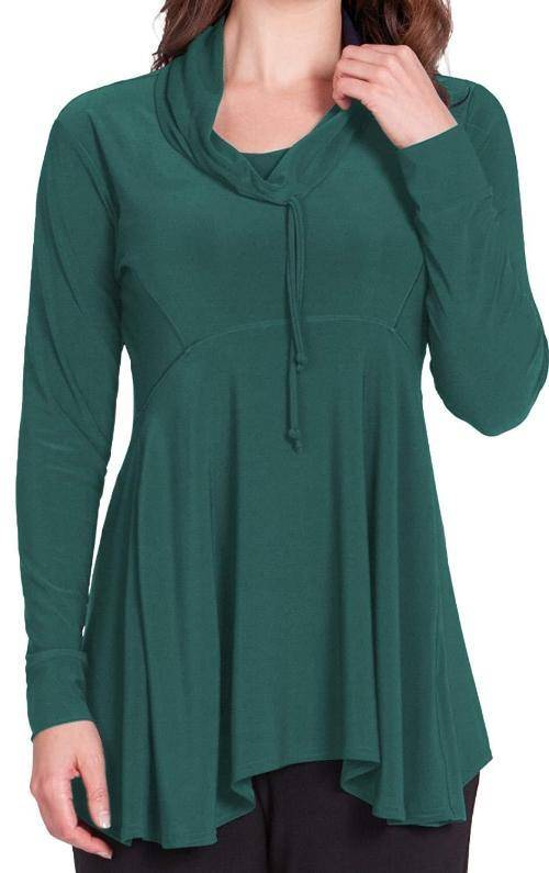 Sympli Womens Energy Slouch Tunic Long Sleeves - A Dream Fit
