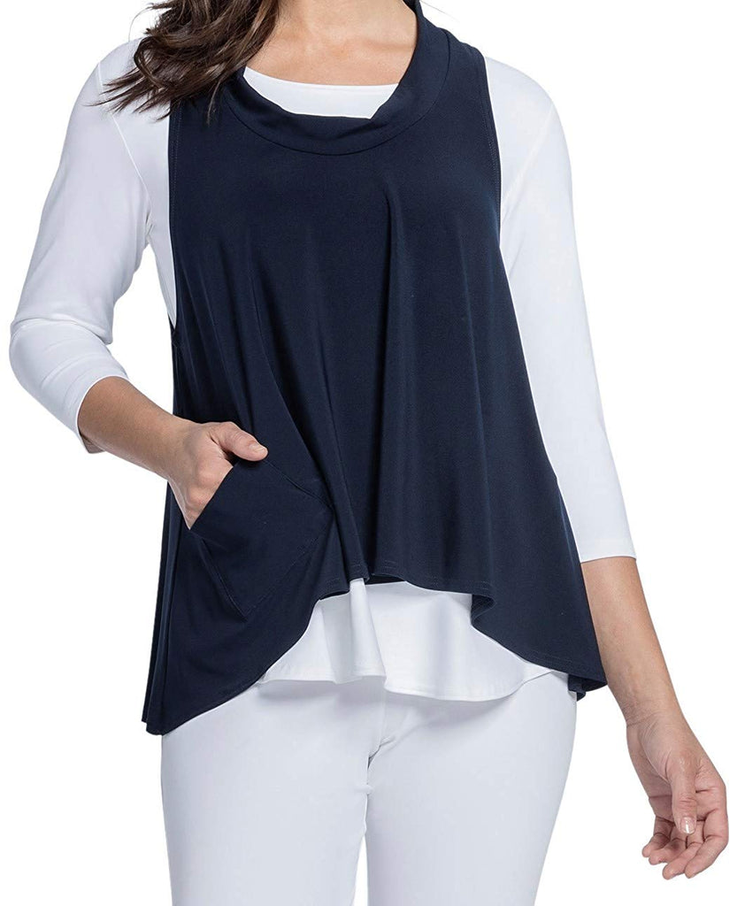 Sympli Womens Shift Smock Top Style 21159 - a-dream-fit.myshopify.com