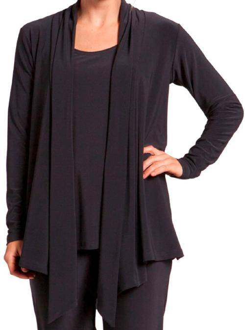 Sympli Womens Plus Size Nu Urban Cardigan, Black - a-dream-fit.myshopify.com