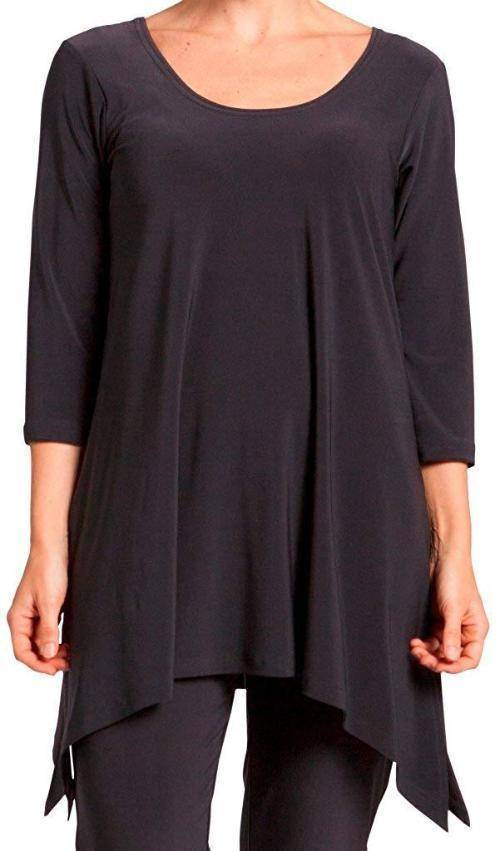 Sympli Womens Plus Size Mimic Tunic 3/4 Sleeves - A Dream Fit