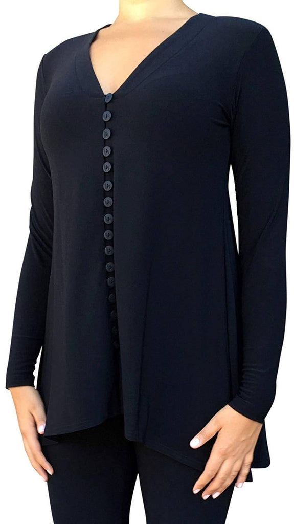 Sympli Womens Duo-Diva Tunic Long Sleeves - A Dream Fit
