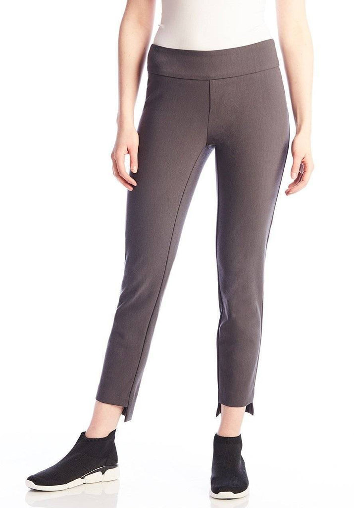 UP! Womens Flatten and Flatter Slim Ankle Pants High-Low Cavalli Twill - A Dream Fit