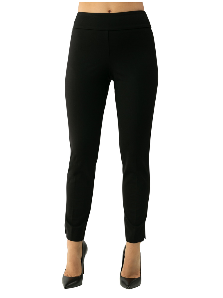 "UP Womens Slim Ankle Pants Style 66845 Black, Luxury Compression, 28"" Inseam"