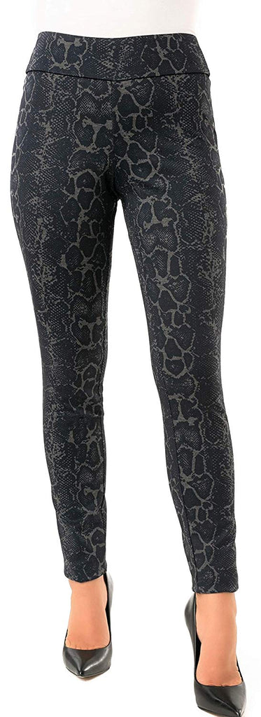 UP Womens Skinny Leg Pants Flatten and Flatter Style 66450 Color Navy Snake Size 10 - a-dream-fit.myshopify.com