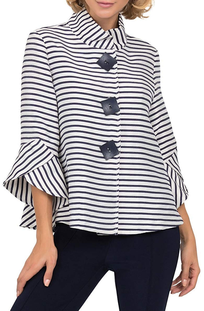 Joseph Ribkoff Womens Striped Jacquard Jacket - a-dream-fit.myshopify.com