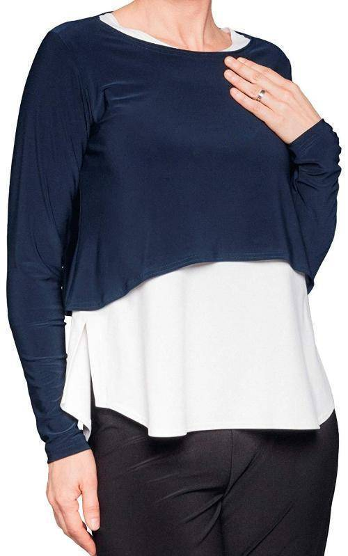 Sympli Womens Shorty Top Long Sleeves - a-dream-fit.myshopify.com