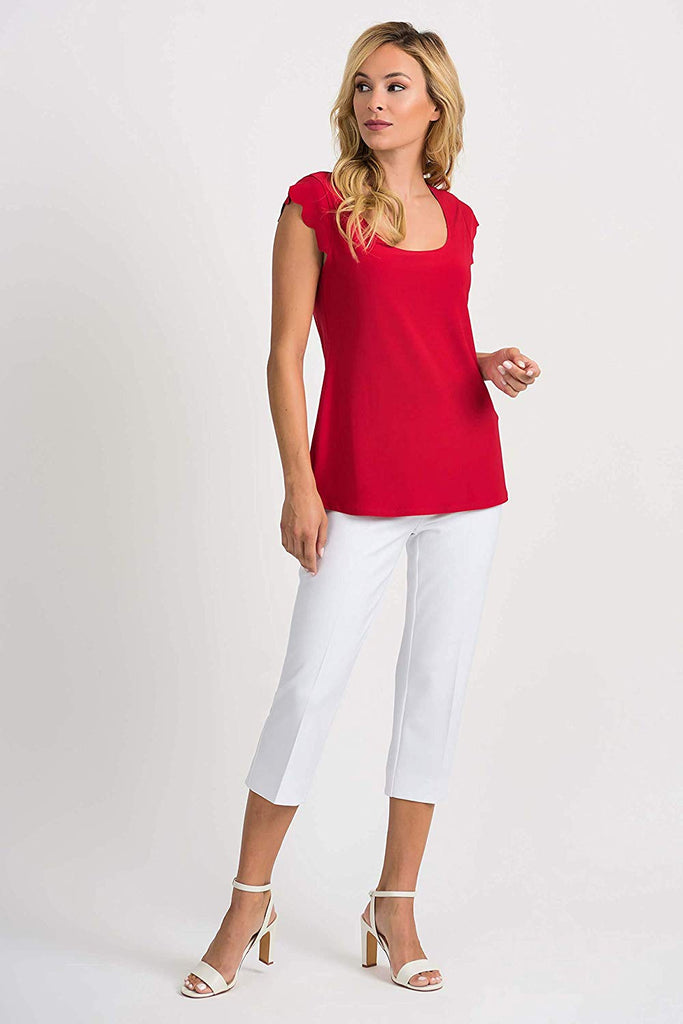 Joseph Ribkoff Womens Tee Style 201260 Color Lipstick Red - a-dream-fit.myshopify.com