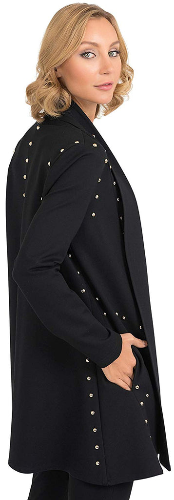 Joseph Ribkoff Womens Pearl Detail Coat Style 193355 - a-dream-fit.myshopify.com