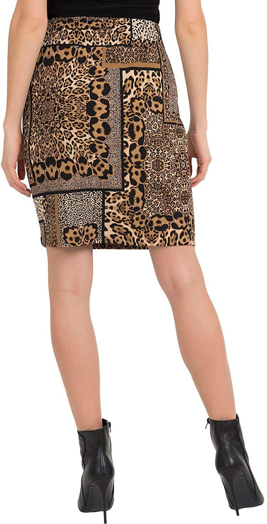 Joseph Ribkoff Womens Leopard Skirt Style 194715 - a-dream-fit.myshopify.com
