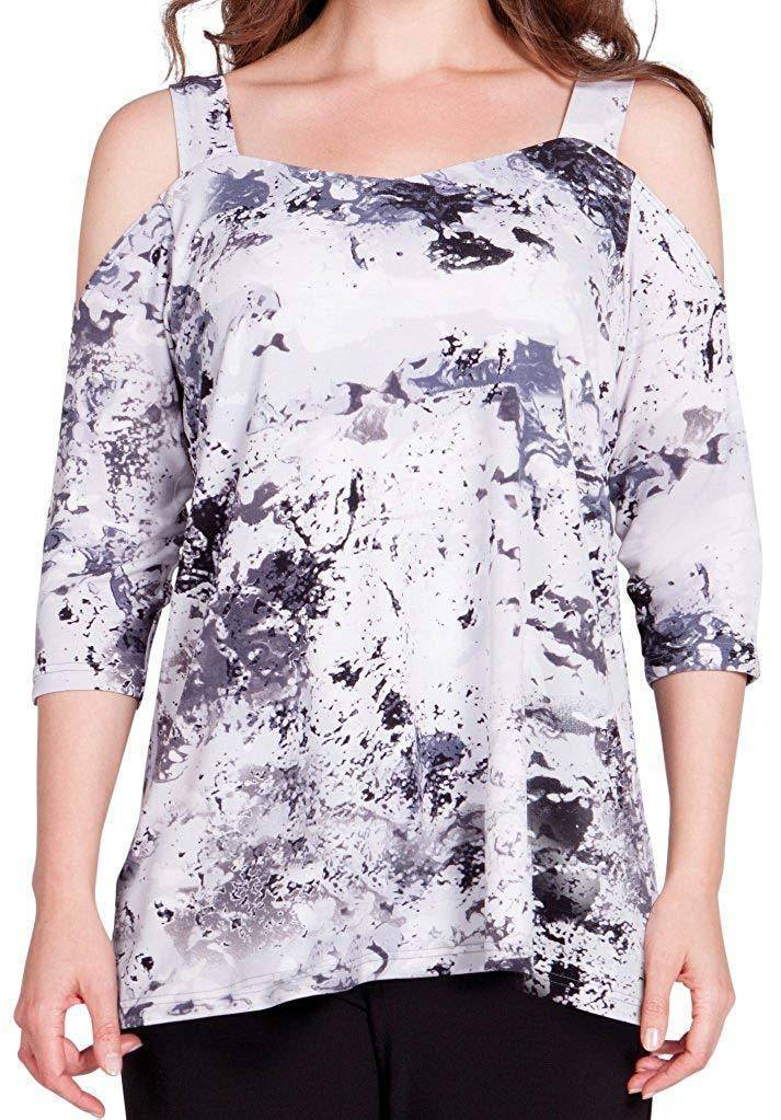 Sympli Womens Etched Off The Shoulder Top - A Dream Fit