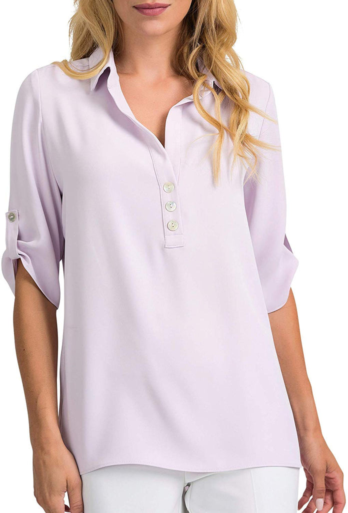 Joseph Ribkoff Womens Blouse Style 201412 Color Lavender Fog - a-dream-fit.myshopify.com