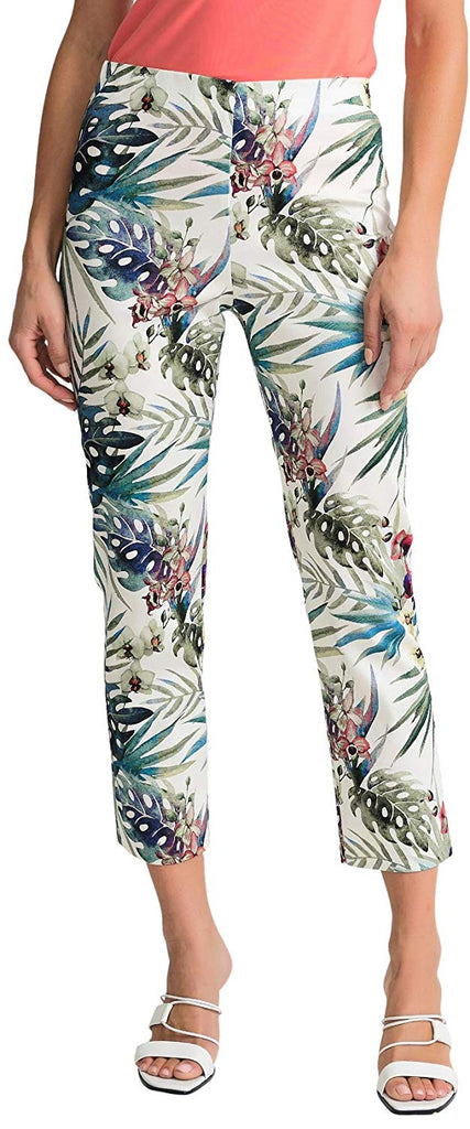 Joseph Ribkoff Womens Paint Stroke Pant Style 202392 Color White/Multi Size 04