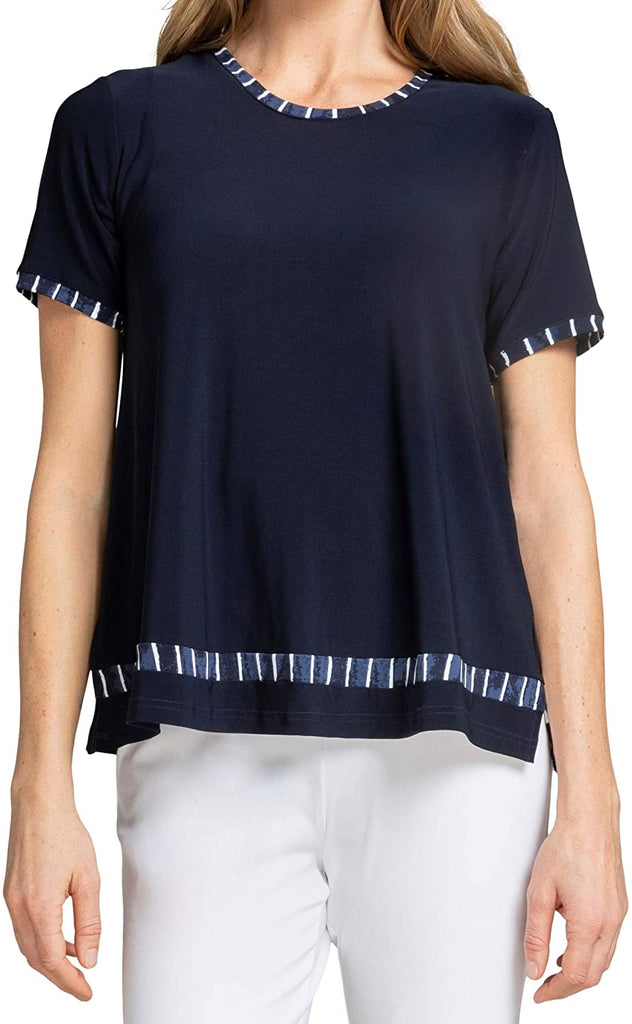 Sympli Womens Outline Boxy T Style 22211CB-1 Painted Lines