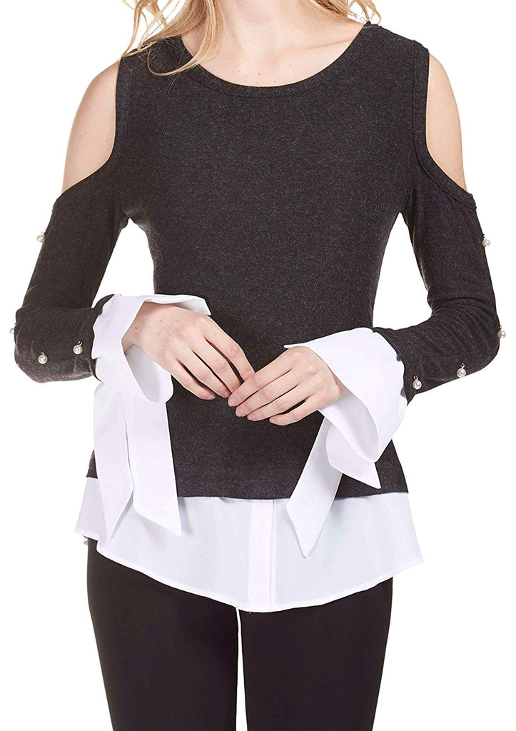 Frank Lyman Womens Pearl Top Style 183412 - a-dream-fit.myshopify.com