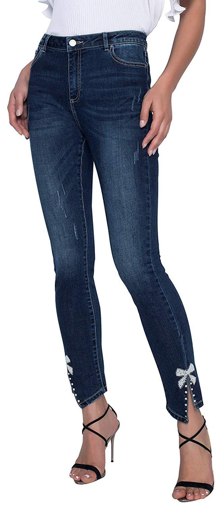 Frank Lyman Womens Jeans with Bow Style 196104U - a-dream-fit.myshopify.com