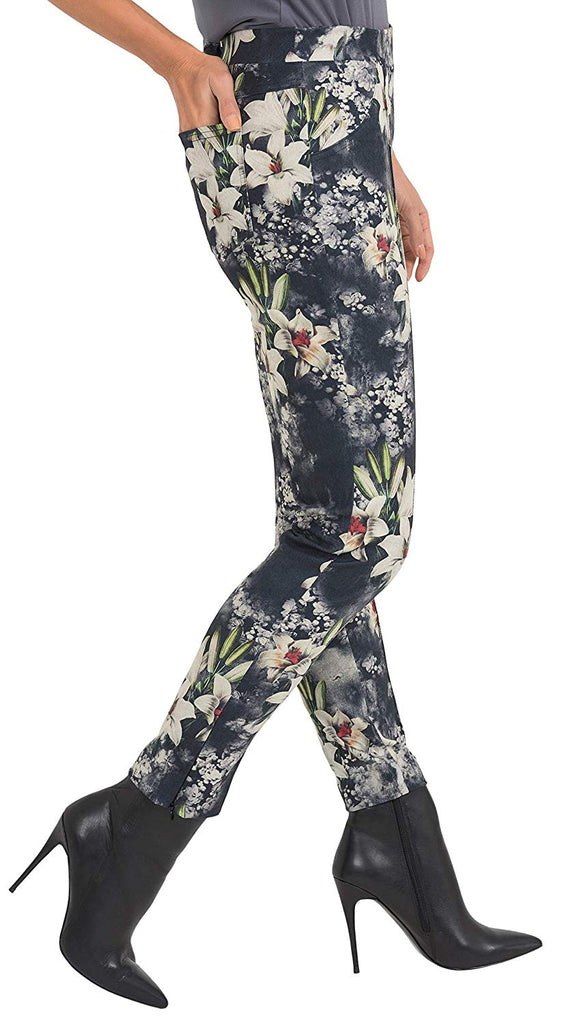 Joseph Ribkoff Womens Floral Pull On Pant Style 193639 - a-dream-fit.myshopify.com